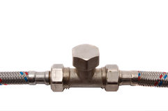 Details for connection of water pipes Royalty Free Stock Image