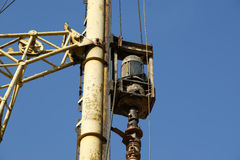 Details of the construction drill Stock Image