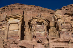 Details of Corinthian tomb, one of the Royal Tombs, Petra Royalty Free Stock Image