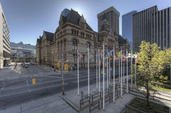 Details of Court House, Toronto, the Old City Hall stock photos