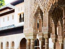 Details of Courtyard of the LionsPatio de los Leonesin  Alham Stock Images