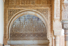 Details of Courtyard of the   Myrtles   in  Alhambra Stock Photos