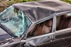 Details of a crashed car Stock Photo