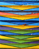 Details of a Crazy Colored House in Burano, Venice Stock Image