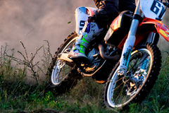Details of debris in a motocross race.  Royalty Free Stock Image