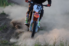 Details of debris in a motocross race.  Royalty Free Stock Images