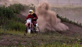 Details of debris in a motocross race.  Stock Photos