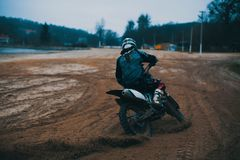 Details of debris in a motocross race royalty free stock image