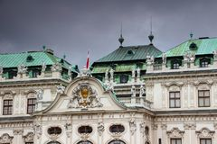 Baroque facade and roof detail Belvedere Palace Vienna Austria Stock Photography