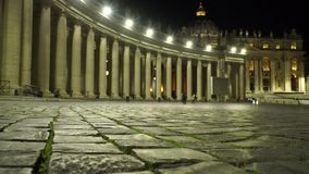 Vatican square. Details with defocus from stones in vatican square stock video