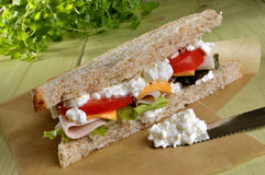 Details of deli sandwich Royalty Free Stock Photo