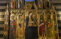 Details der battistero Di San Giovanni, Siena, Italien Lizenzfreie Stockfotografie