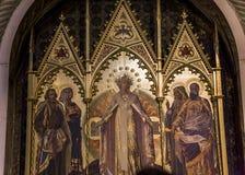 Details der battistero Di San Giovanni, Siena, Italien Stockfotografie