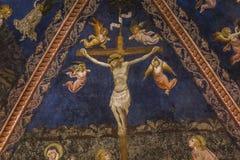 Details der battistero Di San Giovanni, Siena, Italien Stockfoto