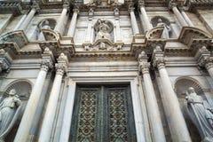 Details der Fassade der Kathedrale von Girona Lizenzfreie Stockfotos