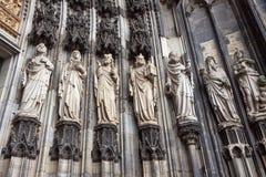 Details der Fassade von Köln-Kathedrale, Deutschland Lizenzfreie Stockfotos
