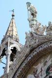 Details der Heilige Markierungs-Basilika in Venedig, Italien Lizenzfreies Stockfoto