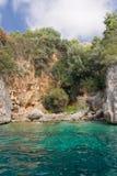 Details der Küstenlinie, Italien Lizenzfreies Stockfoto