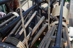 Details der Metallhandkurbel Lizenzfreie Stockfotografie