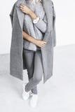 Details der minimalistic Modeausstattung Stockfoto
