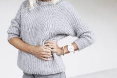 Details der minimalistic Modeausstattung Stockfotografie