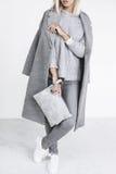 Details der minimalistic Modeausstattung Lizenzfreies Stockfoto