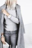 Details der minimalistic Modeausstattung Lizenzfreies Stockbild