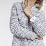 Details der minimalistic Modeausstattung Stockfotos