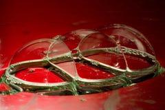 Details der Seifenluftblasen Stockfotografie
