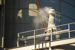 Details der Zementfabrik Lizenzfreie Stockbilder