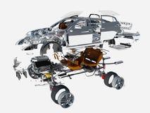 Details des Autos vektor abbildung