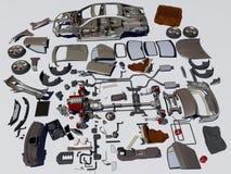 Details des Autos stock abbildung