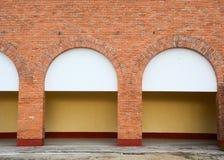 Details des Backsteinhauses in Dalat-Stadt, Vietnam Stockfoto