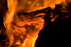 Details des brennenden Feuers Lizenzfreie Stockbilder