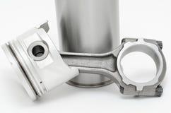 Details des Dieselmotors Stockbilder