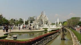Details des Handweißen Tempels u. des x28; wat rong khun& x29; , Chiang Rai stockbilder