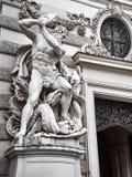 Details des Hofburg-Palastes im Wien-Stadtzentrum lizenzfreie stockfotos
