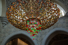 Details des Innenraums zu Sheikh Zayed Mosque, Abu Dhabi, UAE Lizenzfreie Stockfotografie