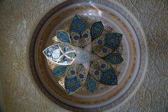 Details des Innenraums zu Sheikh Zayed Mosque, Abu Dhabi, UAE Stockfotografie