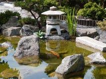 Details des japanischen Gartens Stockfotografie