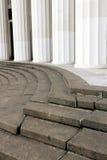 Details des Pavillons in der VDNH-Ausstellungs-Mitte in Moskau Lizenzfreies Stockbild