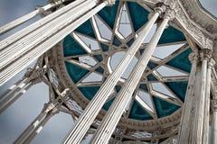 Details des Pavillons in der VDNH-Ausstellungs-Mitte in Moskau Lizenzfreies Stockfoto