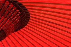 Details des roten Regenschirmes Stockfotografie