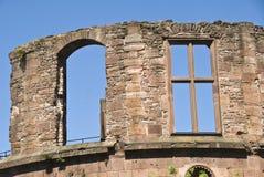 Details des ruinierten Schlosses Stockbilder
