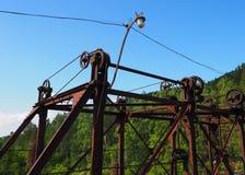 Details des Schließmechanismus des alten Dammes lizenzfreie stockbilder