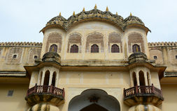 Details des Schlosses in Jaipur, Indien Stockfotografie