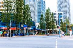 Details des Stadtzentrums im Surfer-Paradies auf dem Gold Coast Lizenzfreies Stockfoto