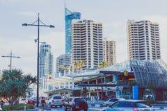 Details des Stadtzentrums im Surfer-Paradies auf dem Gold Coast Stockbild