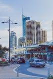 Details des Stadtzentrums im Surfer-Paradies auf dem Gold Coast Stockfotografie