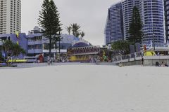 Details des Stadtzentrums im Surfer-Paradies auf dem Gold Coast Lizenzfreie Stockfotografie